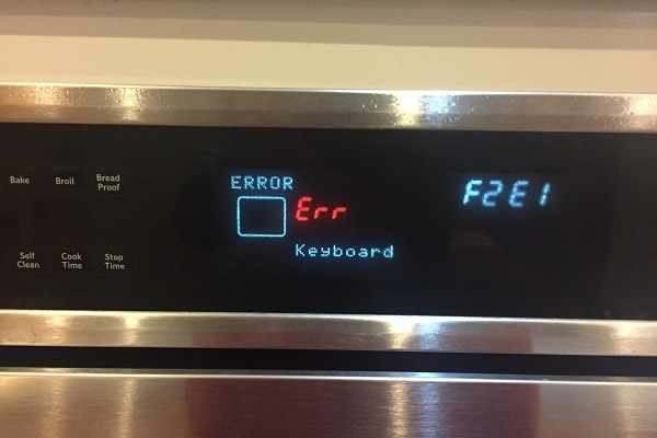 whirlpool oven error codes